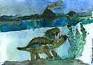 Трицератопс у озера